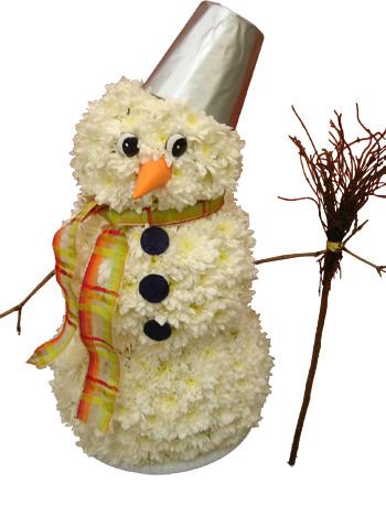 Букет из конфет снеговик